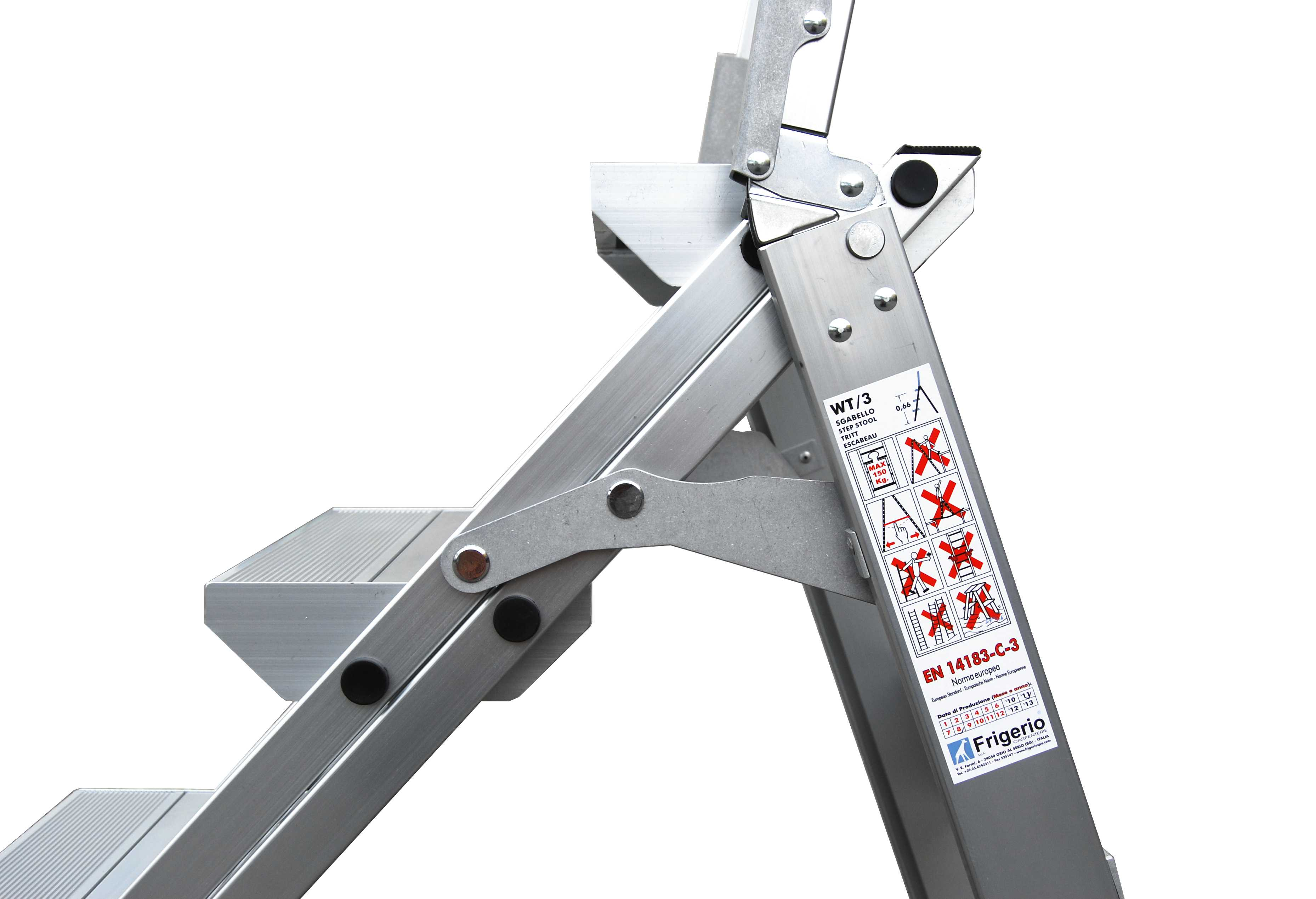 Sgabello in alluminio ripiegabile csp s.r.l.